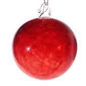 Red Blown Glass Balls