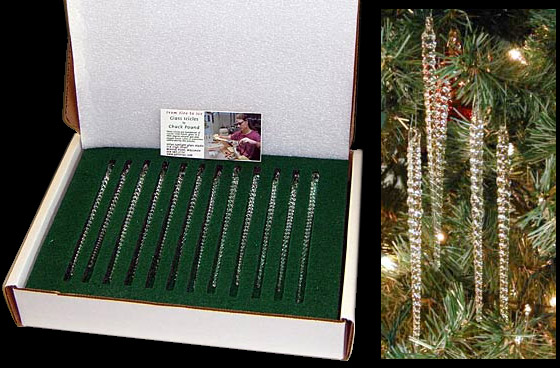 Icicles For Christmas Trees.Glass Icicles Traditional Twist Style Sirius Sunlight